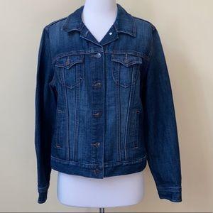 Old Navy Dark Wash Blue Jean Jacket